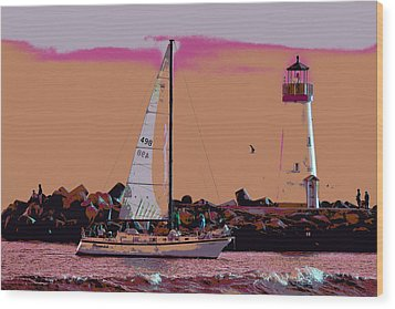 Lighthouse Tour 8940 Wood Print by Tom Kelly