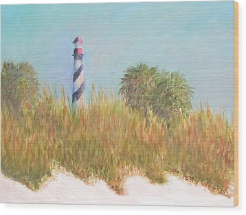 Lighthouse View From St. Augustine Beach Wood Print