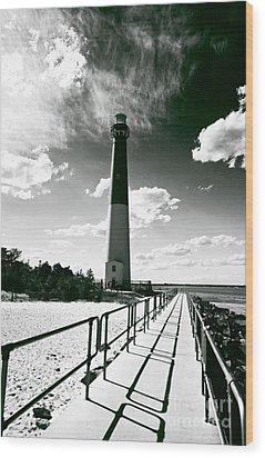 Lighthouse Walk Wood Print by John Rizzuto