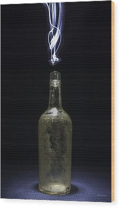 Wood Print featuring the photograph Lighting By The Quart - Light Painting by Steven Milner