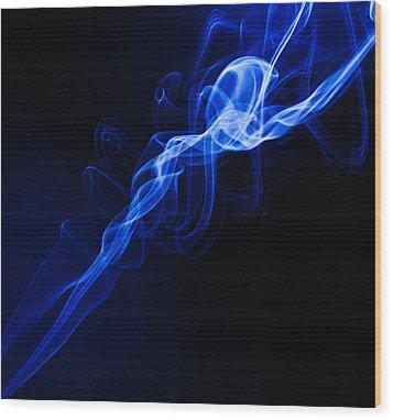 Lighting In Swirls Wood Print by Peter Harris