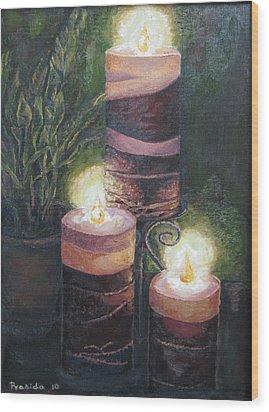 Lighting The Dark Corners Wood Print by Prasida Yerra
