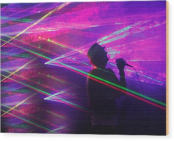 Lighting Up The Stage Wood Print by James Hammen
