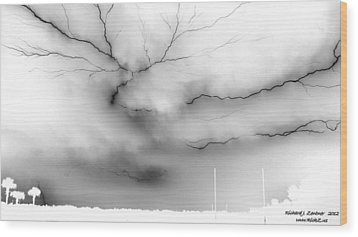 Wood Print featuring the photograph Lightning 4 by Richard Zentner