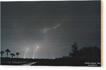 Wood Print featuring the photograph Lightning 6 by Richard Zentner