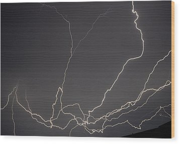 Lightning 6a Wood Print by Maggy Marsh