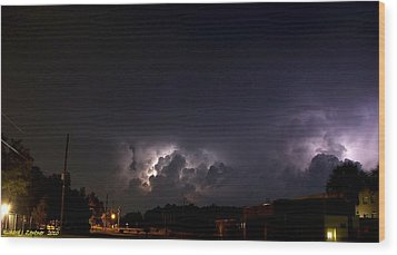 Wood Print featuring the photograph Lightning 9 by Richard Zentner