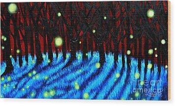 Lightning Bugs 2 Wood Print