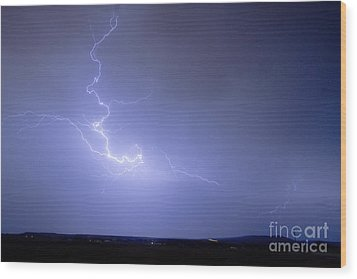 Lightning Goes Boom In The Middle Of The Night Wood Print by James BO  Insogna