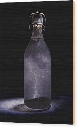 Lightning In A Bottle Wood Print