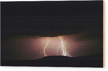 Lightning  Wood Print by Jeff Swan