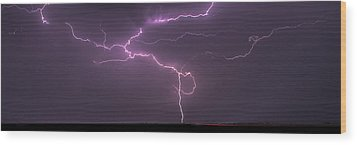 Wood Print featuring the photograph Lightning by Rob Graham