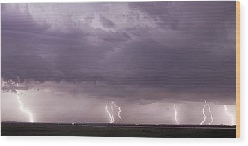 Wood Print featuring the photograph Lightning Storm by Rob Graham