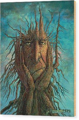 Lightninghead Wood Print