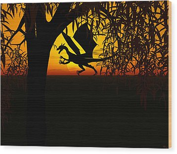 Lights And Shadow Wood Print by Michele Wilson