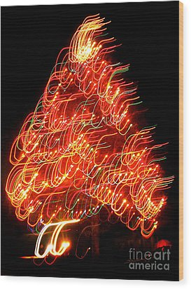Lights Before Christmas Wood Print by Gem S Visionary