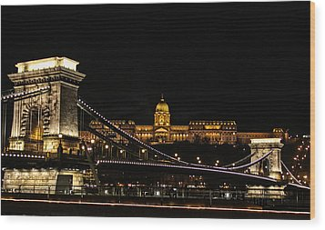 Lights Of Budapest Wood Print