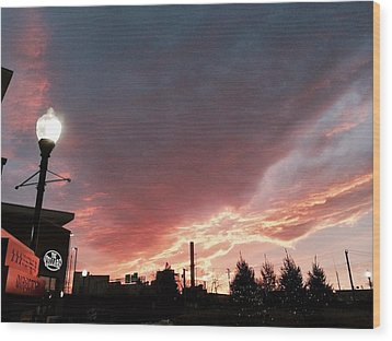Wood Print featuring the photograph Lights The Whole Sky by Toni Martsoukos