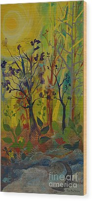 Light's Wonderful Secret Wood Print by Robin Maria Pedrero