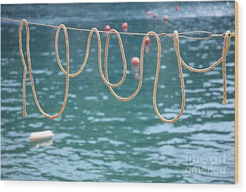 Wood Print featuring the photograph Ligurian Loops  by Lynn England
