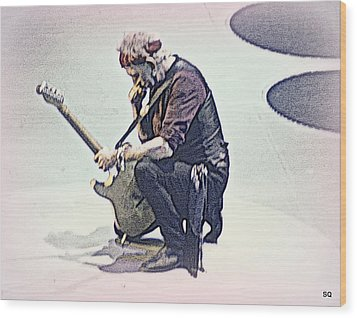 Like A Rolling Stone Wood Print by Sue Rosen