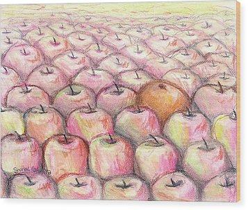 Like Apples And Oranges Wood Print by Shana Rowe Jackson