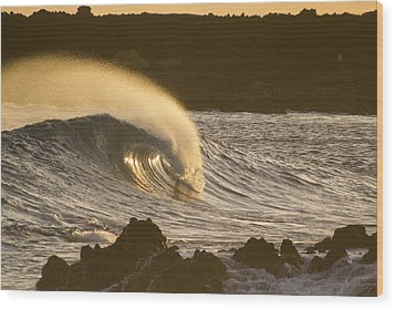 Like Lava Wood Print by Brad Scott