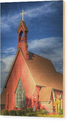 Lil' Church On The Pray're Wood Print