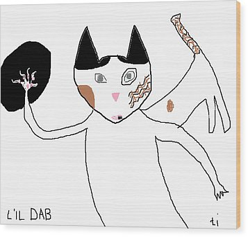 Lil Dab Wood Print by Anita Dale Livaditis