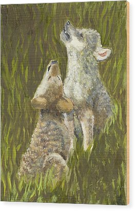 Li'l Howlers Wood Print