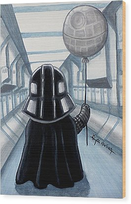 Lil Vader Dreams Big Wood Print by Al  Molina
