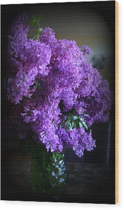 Lilac Bouquet Wood Print by Kay Novy