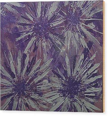 Lilac Garden Wood Print by Judi Goodwin