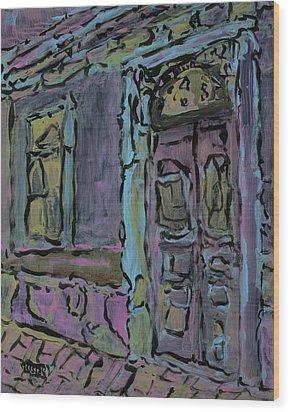 Lilac House  Wood Print