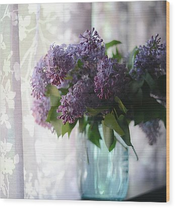 Lilac Morning Wood Print