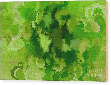 Lilac Of The Valley Green White Wood Print by Holley Jacobs