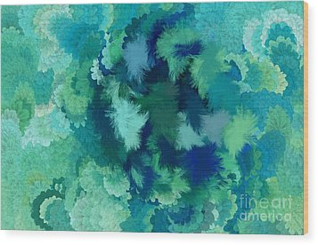 Lilac Of The Valley Teal Green Wood Print by Holley Jacobs
