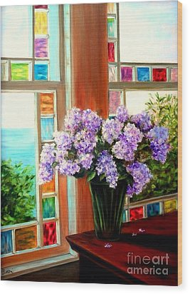 Lilac Reflections Wood Print