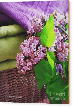 Lilac Still Life Wood Print by Lainie Wrightson