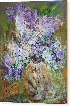 Lilac Time Wood Print by Mary Spyridon Thompson