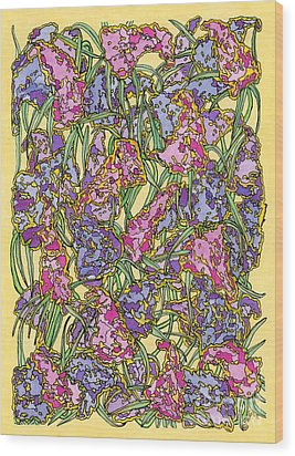 Lilacs Electric Wood Print by Mag Pringle Gire