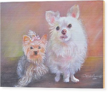 Lili And Tenti Wood Print by Patricia Schneider Mitchell