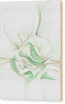 Lilie Wood Print by Torsten Bahr