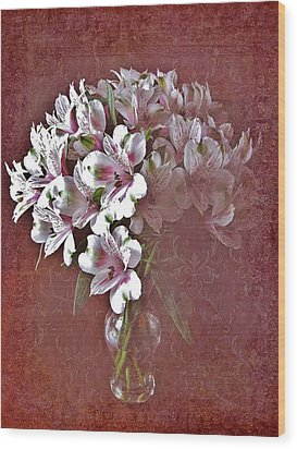 Wood Print featuring the photograph Lilies In Vase by Diane Alexander
