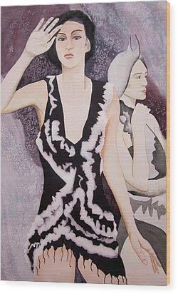 Lilliana Wood Print by Teresa Beyer