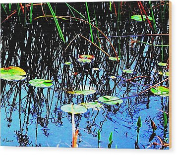 Lilly Pads - Abstract Wood Print