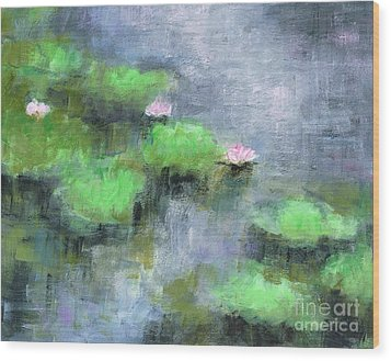 Water Lilly's  Wood Print by Frances Marino