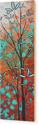 Lilly Pulitzer Inspired Abstract Art Colorful Original Painting Spring Blossoms By Madart Wood Print by Megan Duncanson