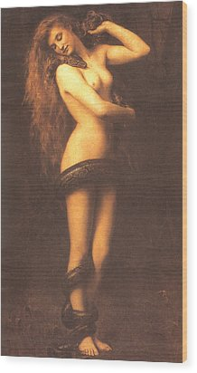 Lilth Wood Print by John Collier
