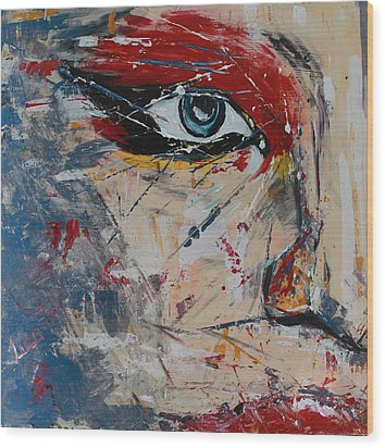 Wood Print featuring the painting Liluye by Lucy Matta